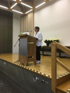 Frau Dr. Aden begrüßte die Prüflinge und gab einen kurzen Ausblick auf die Zukunft des Berufsbildes.